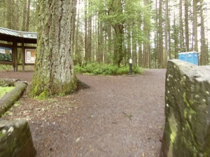 Entrance to a hiking trail near Spencer's Butte.