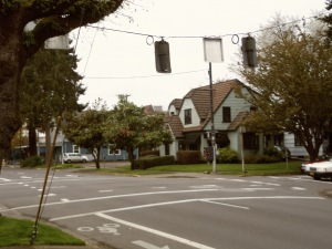 Random intersection, cool old house.